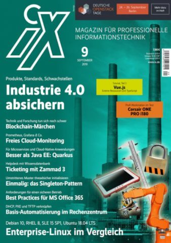 iX-Titelbild, Ausgabe 09/2019